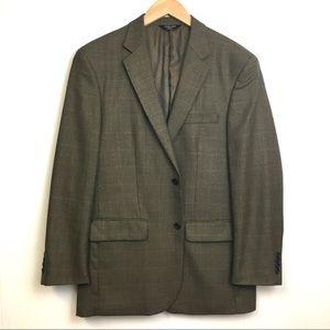 Joseph & Feiss Gold Plaid Suit Jacket 41R